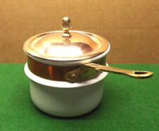 COPPER DOUBLE BOILER CERAMIC  INSERT FOR COPPER POT MADE IN FRANCE