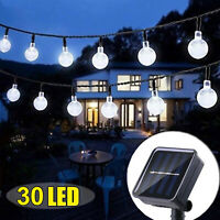 30 LED Solar Power Light String Lamp Party Xmas Decor Garden Path Yard Outdoor