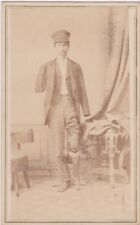 CDV Triple Amputee probably Civil War Veteran by Maurice Farrington Delhi NY
