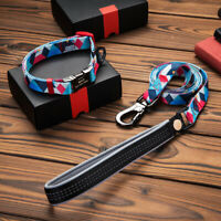Nylon Dog Pet Collar and Leash Set Engraved Puppy Dog Leash Collar For Chihuahua