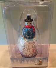 "New in Box Jim Shore 'Dashaway' Snowman Ornament 2012 6""H Cute!"