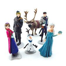 Figuras PVC Frozen para la tarta Set 6 Figuras Elsa Anna Olaf para pastel Topper