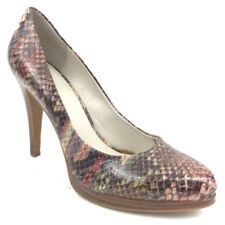 Nine West Womens High Heels Pumps Shoes Rocha Career Animal Snakeskin Print 7.5M