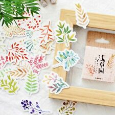 45pcs Grass Garden Adhesive Stickers DIY Scrapbooking Dairy Decor New Design