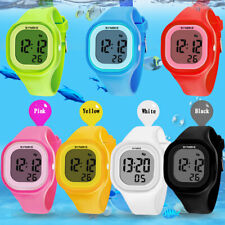Multi-Function Waterproof LED Silicone Digital Wrist Watch For Boys Girls Kids