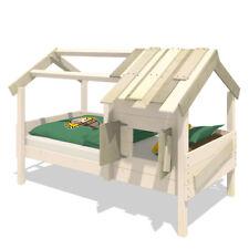 WICKEY Kinderbett Hausbett CrAzY Sunrise - Plane Holzbett 90 x 200 cm