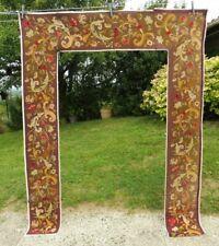 Bandes tapisserie gout Aubusson XIXe broderie ancienne tour de lit , porte ....