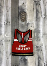 PINK Victoria's Secred Happy Holidays Sports Bra Size Small
