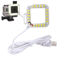 USB LED Ring Night Vision Light w/ Waterproof Cover for Gopro Hero4 Hero3+ Hero3
