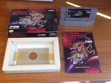 CIB Super R-Type (Super Nintendo SNES, 1991) Complete *TESTED*