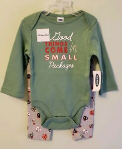 Old Navy Unisex Baby Outfit 0-3 3-6 6-12 MONTHS Christmas Bodysuit Pants #32119