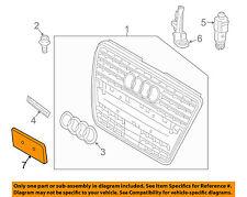AUDI OEM Q5 Front Bumper Grille Grill-License Bracket Mount Panel 8R0807285FT94