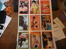 BRUCE LEE GREEN HORNET ENTER THE DRAGON LIMITED UNCUT SHEET OF 9 POSTCARDS