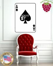 Wall Stickers Vinyl Decal Card Poker Ace Revolver Gambling ig731