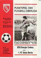 OL 86/87 BSG Energie Cottbus - 1. FC Union Berlin
