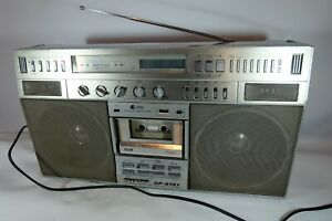 Old Vintage SHARP-GF9797 Portable Radio Stereo Boombox Ghettoblaster Please Read