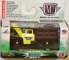 M2 MACHINES AUTO-TRUCKS 1956 FORD F-100 STAKEBED TRUCK W+