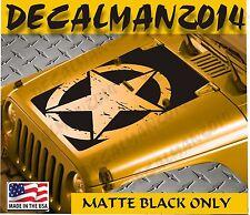 Jeep Wrangler Blackout  Distressed Star Vinyl Hood Decal JK JKU  2007-2016
