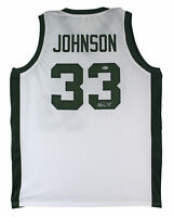 Michigan State Magic Johnson Authentic Signed White Jersey BAS Witnessed