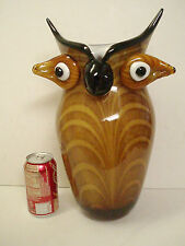 XXL Murano Glass Owl Abstract Vase