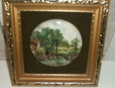 Hay Wain Constable Framed Ceramic Pot Lid Plaque Staffordshire Haywain