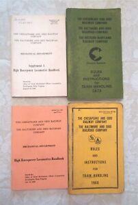 Lot Of 4 Chesapeake And Ohio Railway Company Booklets Handbooks 1960's To 1973