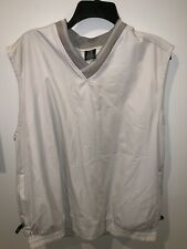 Nike Golf Pullover Lightweight Rain Wind Vest Men's Beige Khaki Size L V NEck