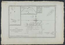 SOLOMON ISLANDS 1787 PAPUA NEW GUINEA ORIGINAL ENGRAVING ANTIQUE MAP BONNE