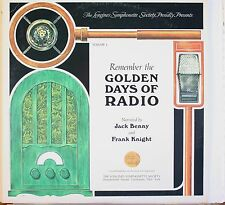 Remember The Golden Age Of Radio w/ J. Benny/F. Knight LP Record Ex Condition