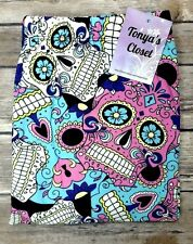 PLUS Colorful Candy Sugar Skull Leggings Halloween Skeletons Print Curvy 10-18
