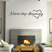 Never Stop Dreaming Letters Catcher Wall Sticker - Dreamcatcher Bedroom Decor