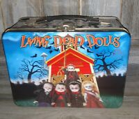 LIVING DEAD DOLLS Graveschool Metal Tin Lunch Box USEd see pictures 4 CONDITION