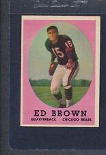 1958 Topps #123 Ed Brown Bears EX *45