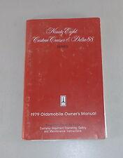 Owner's Manual/Manuel Oldsmobile 98/custon Cruiser/Delta 88