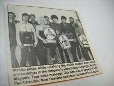 Blondie pose w/ Golden Reel Awards 1980 music biz promo pic/text