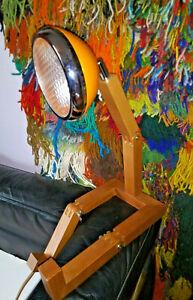 Mr Wattson LED Wooden Lamp Orange w/Adaptor Plug Office Desk Danish Modern