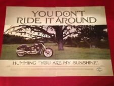 2006 Harley Davidson VRSCD Night Rod motorcycle 2-page print ad Great to frame!
