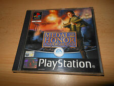 PLAYSTATION 1 PS1 - Medal of Honor: UNDERGROUND PAL OTTIME COLLEZIONISTI