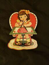 Vintage Valentines Day Card Moving Die Cut - No Writing RefCard#