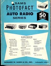 Sams Photofact-Auto Radio Manual/#AR-50/First Edition-First Print/1968