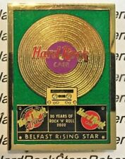 2002 HARD ROCK CAFE BELFAST GOLD RECORD SERIES 30 YEARS OF ROCK & ROLL PIN