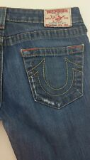 True Religion Bobby Boot Cut Womens Jeans Size 29x27 Stretch USA Made Distressed