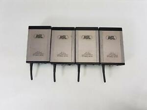Joblot of 4x ASL WS19 Single Channel Wireless Digital Beltpack - No PSU
