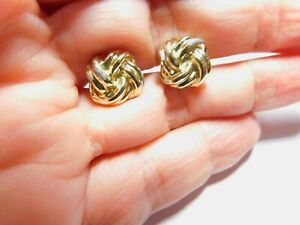Vintage Knot Gold Tone Metal Cuff links