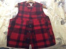 Filson Mackinaw Wool Vest, Men's size 42 (Large) red/black