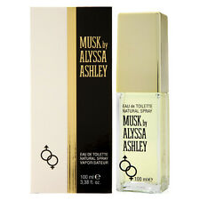 MUSK by ALYSSA ASHLEY for WOMEN * 3.4 oz (100 ml) EDT Spray * NEW SEALED BOX