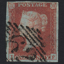 H25 GB QV 1841 1d RED-BROWN PLATE 97 SG8-B1(1) IF FU BELFAST 62 4 MARGINS