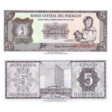 Paraguay 5 Guaranies 1952 P-195b Banknotes UNC