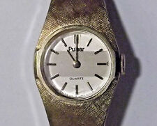 Excellent Pulsar Women's Gold Watch Ultra Slim Thin Light with 1 Year Warranty!