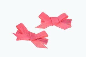 Pair Pink/Orange Bow Hair Clip for Girls Kids Accessories for Hair Baby HairClip